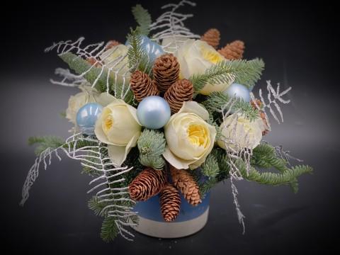 Aranjament Craciun - White Christmas