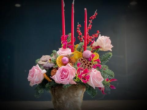 Aranjament floral - Parfum de Craciun