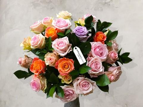 Buchet 27 Trandafiri pastel