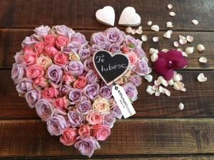 Inima din 15 minirosa roz