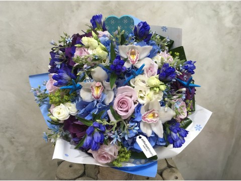 Buchet de flori Pretty in Blue